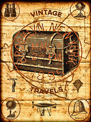 Digital Art - Steampunk Travel Poster by Bellesouth Studio