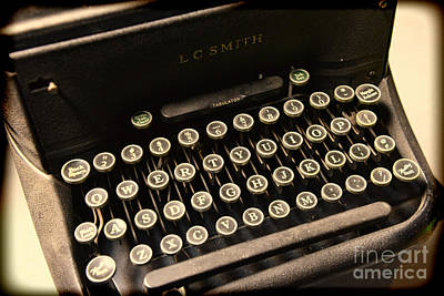 Typewriter Keys Photograph - Steampunk - Typewriter - The Age Of Industry by Paul Ward