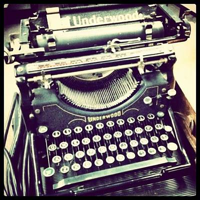 #steampunk #typewriter #writeshit Art Print