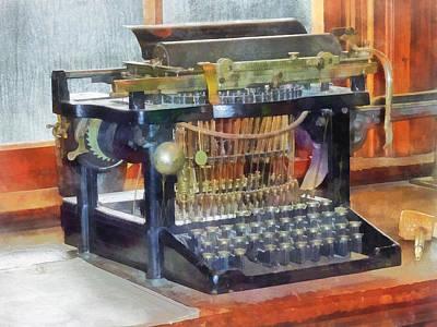 Steampunk - Vintage Typewriter Print by Susan Savad
