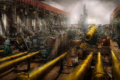 Steampunk - War - We Are Ready Art Print by Mike Savad