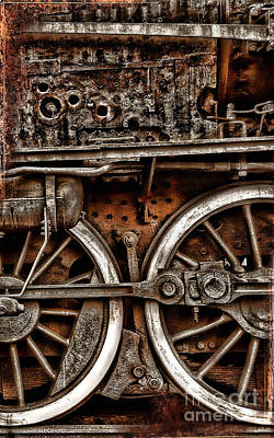 Photograph - Steampunk- Wheels Locomotive by Daliana Pacuraru