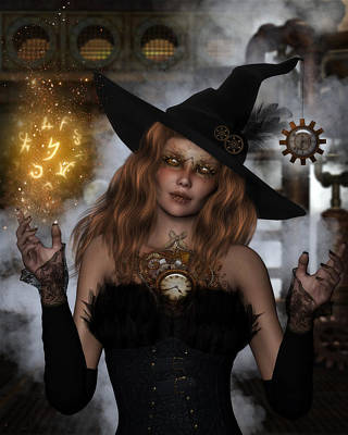 Steampunk Royalty-Free and Rights-Managed Images - Steampunk Witch by Suzanne Amberson