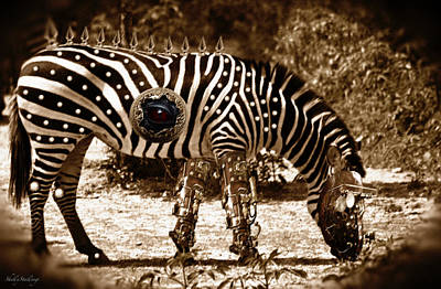 Photograph - Steampunk Zebra by Shelly Stallings