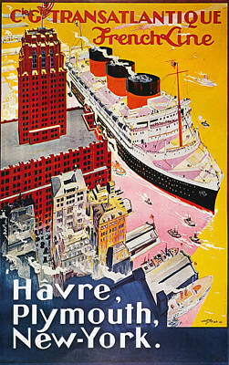 Photograph - Steamship Poster, 1930s by Granger