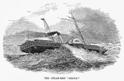 Liner Painting - Steamship Sirius by Granger