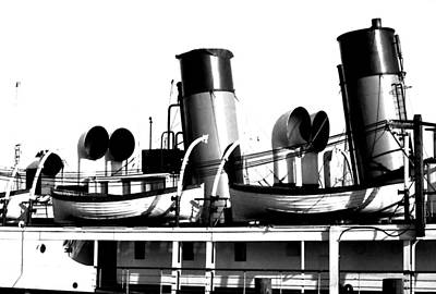 Photograph - Steamship Smokestacks by Robert  Rodvik