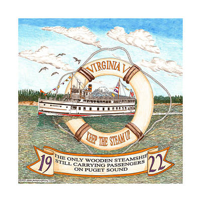 1922 Steamship Virginia V Original by Jack Pumphrey