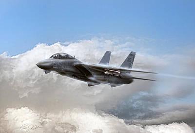 F-14 Digital Art - Steamy Cat by Peter Chilelli