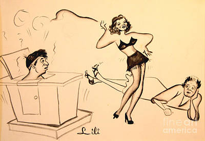 Drawing - Steamy Dancer - Good Night Ladies  1939 by Art By Tolpo Collection