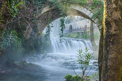 Photograph - Steamy Waterfall Livadia Greece by Deborah Smolinske