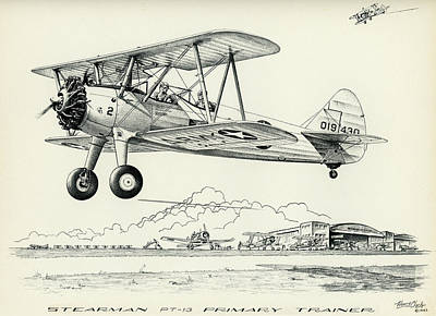 Stearman Pt-13 Trainer Art Print