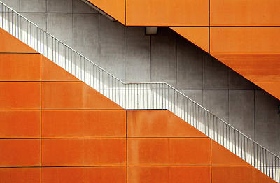Staircase Photograph - Steel by Alida Van Zaane