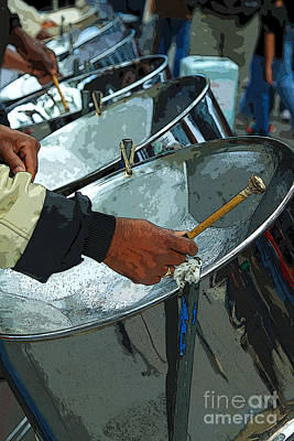 Musicians Royalty Free Images - Steel Band Street Musicians Royalty-Free Image by Jeanette French