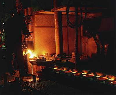 Steel Being Melted For Conversion Print by Dorling Kindersley/uig