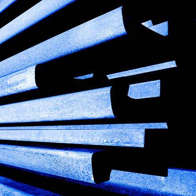 Steel Blue - Modern Abstract Art Print by Steven Milner