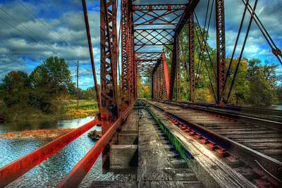 Tree Photograph - Steel Bridge by Ryan Crane