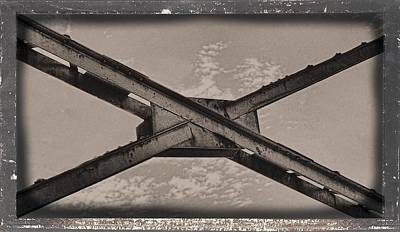 Photograph - Steel Cross Beams by Rudy Umans