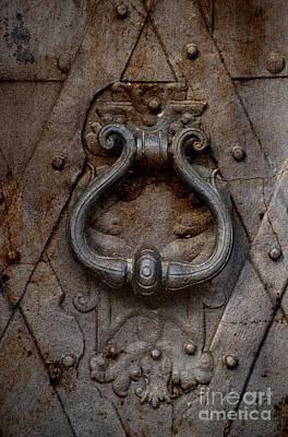 Photograph - Steel Decorated Doorknob by Jaroslaw Blaminsky