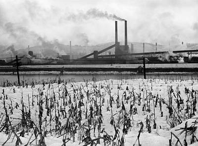 January Jones Photograph - Steel Factory, 1941 by Granger