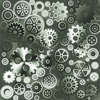 Steel Gears Art Print by Gaspar Avila