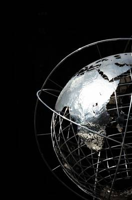 Photograph - Steel Globe At Columbus Circle - New York by Marianna Mills
