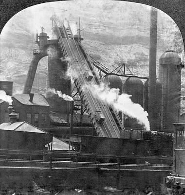 Steel Mill Blast Furnace Art Print by Granger