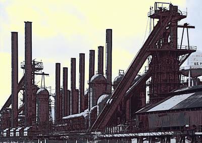 Steel Mill Blast Furnaces Print by Daniel Hagerman