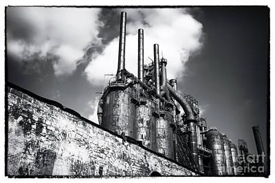 Steel Mill Rising Art Print