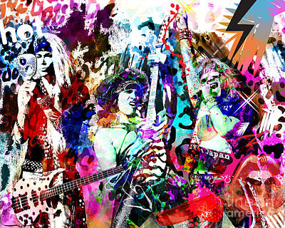 Steel Panther - Original Painting Art Print Original by Ryan Rock Artist