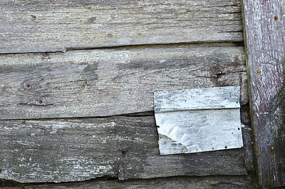Photograph - Steel Patch On A Shed by Lynn Hansen
