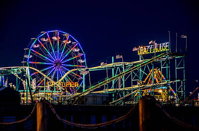 Surrealism Royalty-Free and Rights-Managed Images - Steel Pier at Night by Surreal Jersey Shore