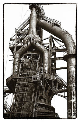 Photograph - Steel Pipes by John Rizzuto