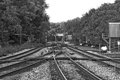 Steel Rail Intersections.   Point Of Rocks Md Art Print