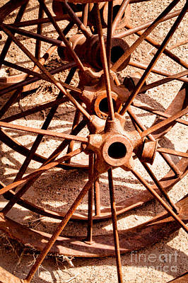 Photograph - Steel Spokes by Lawrence Burry