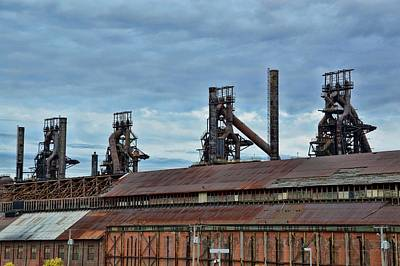 Photograph - Steel Stacks by JAMART Photography