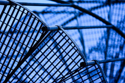 Steel Stairs  Closeup Art Print