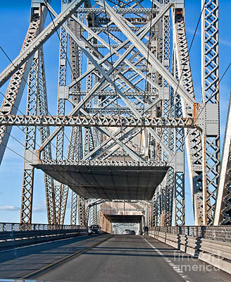 Photograph - Steel Truss Bridge From Inside Art Prints by Valerie Garner