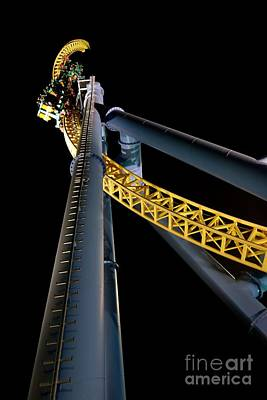 Rollercoaster Photograph - Steel Venom by Jacqueline Athmann