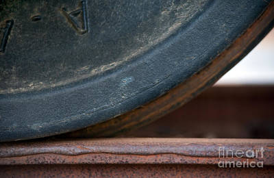 Railroads Photograph - Steel Wheel by Dan Holm