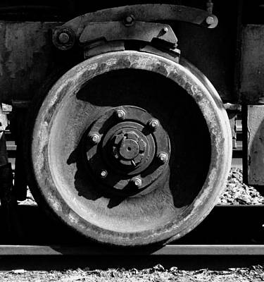 Photograph - Steel Wheel In Shades Of Grey by Bill Tomsa