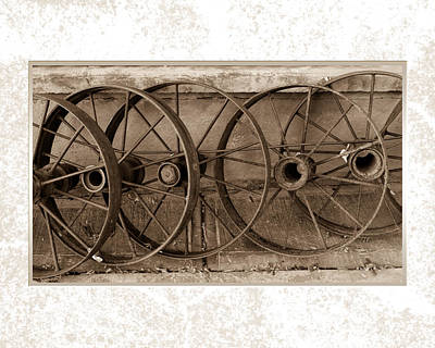 Photograph - Steel Wheels by J Michael Nettik