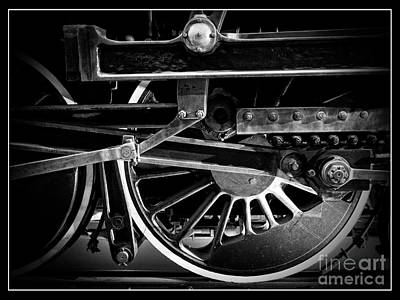 Vintage Locomotive Photograph - Steel Wheels - Steam Train Drivers by Edward Fielding