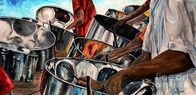 Painting - Steelband Music Sweet by Anna-maria Dickinson