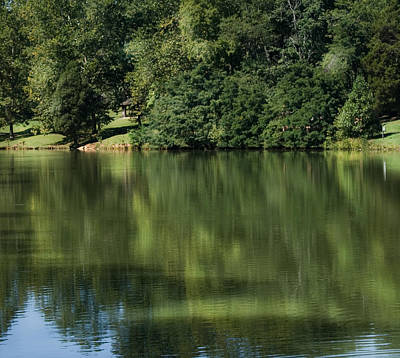 Steele Creek Park Reflections Art Print