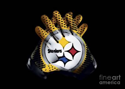 Steelers Gloves Art Print