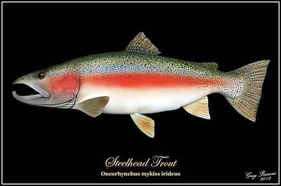 Rainbow Trout Mixed Media - Steelhead Trout by Greg Pezzoni