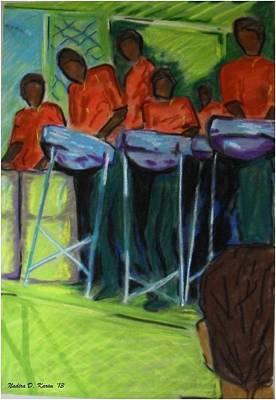 Steelpan In Chaguaramas Art Print by Nadira Karim