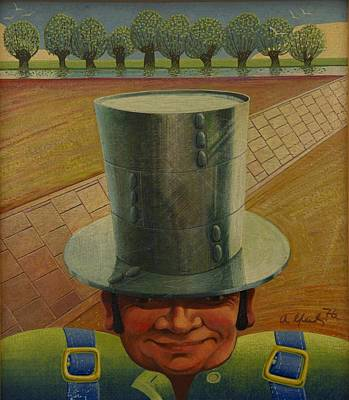 Rivets Painting - Steely Dan The Straightway Man by Arthur Glendinning