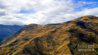 Patchwork Quilts Photograph - Steep Farms In The Andes by Al Bourassa